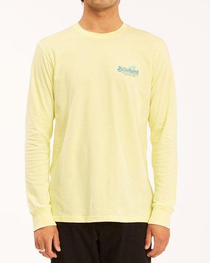 0 Lounge Long Sleeve T-Shirt Yellow ABYZT00625 Billabong