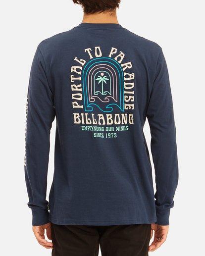 3 Portal Long Sleeve T-Shirt Blue ABYZT00627 Billabong