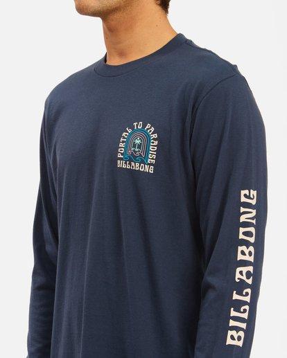 4 Portal Long Sleeve T-Shirt Blue ABYZT00627 Billabong