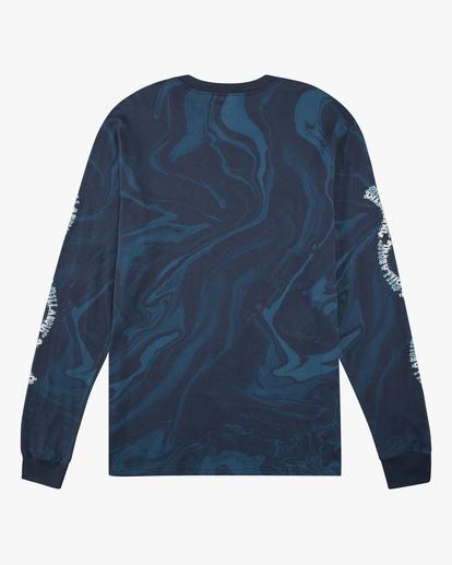 6 Marble Arch Long Sleeve T-Shirt Blue ABYZT00628 Billabong