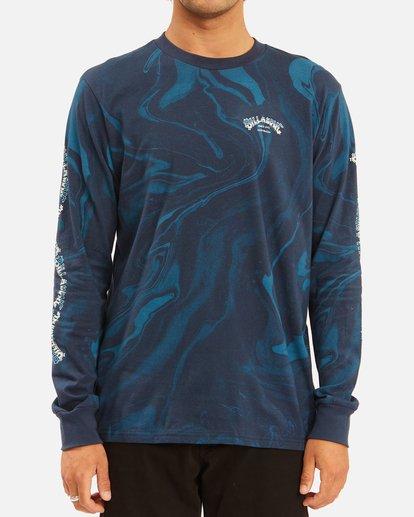 0 Marble Arch Long Sleeve T-Shirt Blue ABYZT00628 Billabong