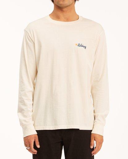 0 Peak Wave Washed Long Sleeve T-Shirt White ABYZT00631 Billabong