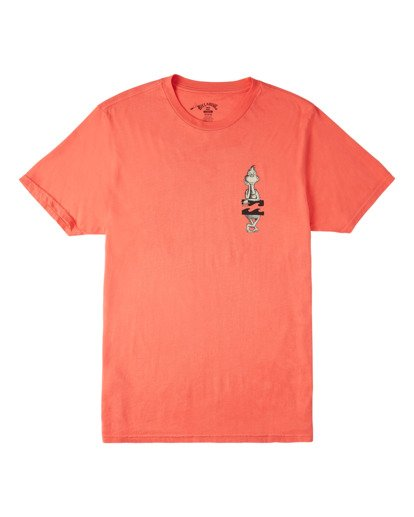 3 Shaka Grinch Short Sleeve T-Shirt Red ABYZT00638 Billabong