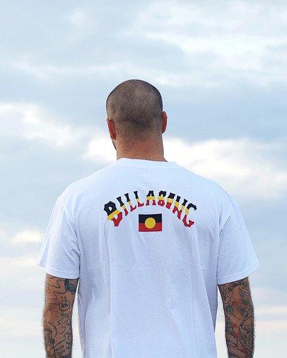 0 Flag Arch Short Sleeve T-Shirt White ABYZT00646 Billabong