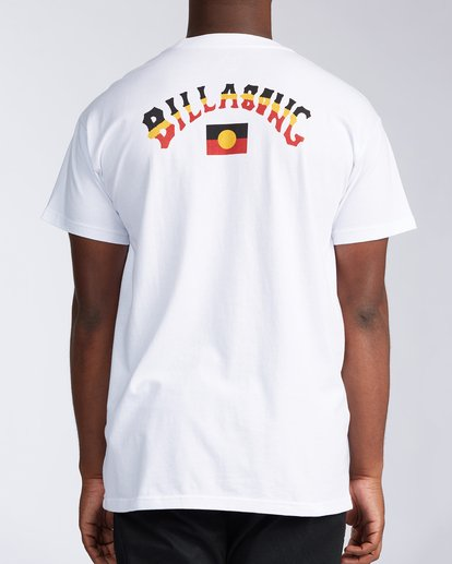 3 Flag Arch Short Sleeve T-Shirt White ABYZT00646 Billabong