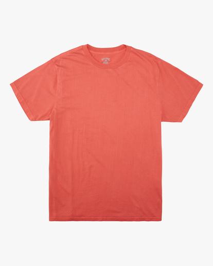 3 Essential Short Sleeve Wave Washed T-Shirt Orange ABYZT00652 Billabong