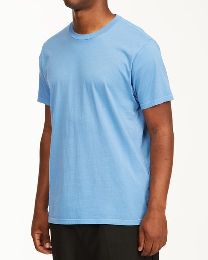 3 Essential Short Sleeve Wave Washed T-Shirt Blue ABYZT00652 Billabong