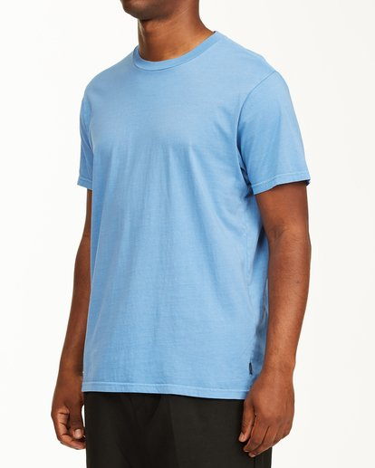 1 Essential Short Sleeve Wave Washed T-Shirt Blue ABYZT00652 Billabong