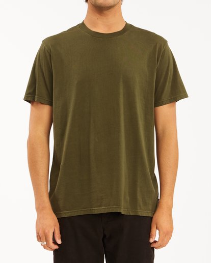0 Essential Short Sleeve Wave Washed T-Shirt Green ABYZT00652 Billabong