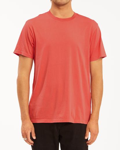 0 Essential Short Sleeve Wave Washed T-Shirt Orange ABYZT00652 Billabong