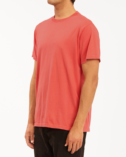 1 Essential Short Sleeve Wave Washed T-Shirt Orange ABYZT00652 Billabong