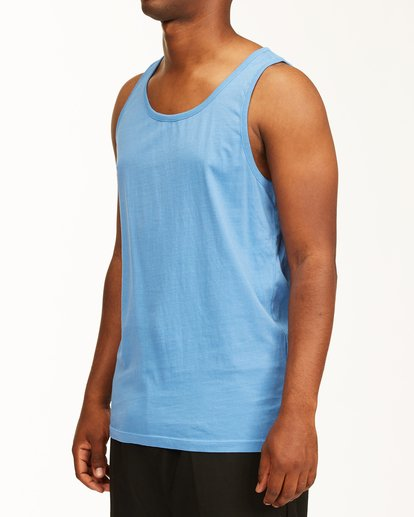 1 Essential Tank Wave Washed T-Shirt Blue ABYZT00654 Billabong