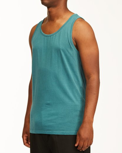 1 Essential Tank Wave Washed Tank Top Blue ABYZT00654 Billabong