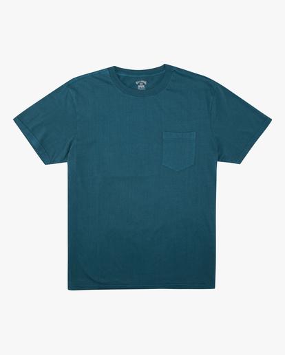 4 Essential Pocket Wave Washed T-Shirt Blue ABYZT00656 Billabong