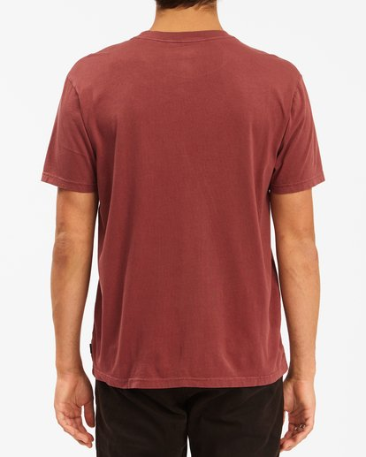 2 Essential Pocket Wave Washed T-Shirt Red ABYZT00656 Billabong