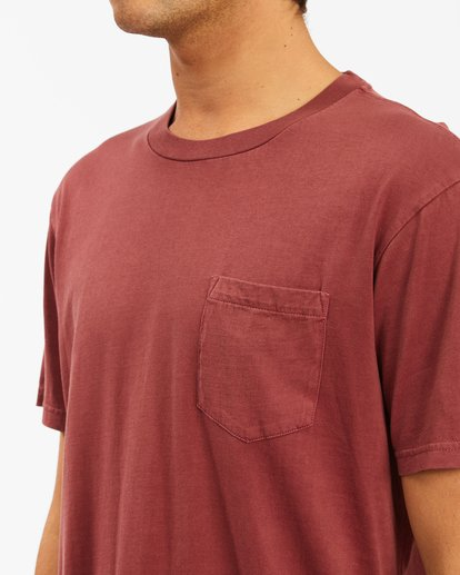 3 Essential Pocket Wave Washed T-Shirt Red ABYZT00656 Billabong