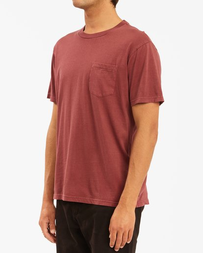 1 Essential Pocket Wave Washed T-Shirt Red ABYZT00656 Billabong