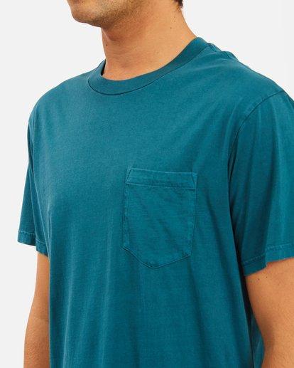 3 Essential Pocket Wave Washed T-Shirt Blue ABYZT00656 Billabong
