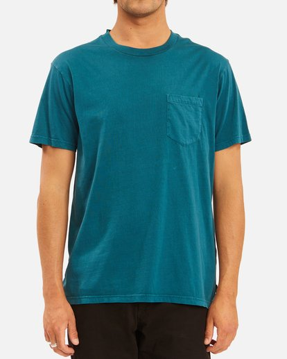 0 Essential Pocket Wave Washed T-Shirt Blue ABYZT00656 Billabong