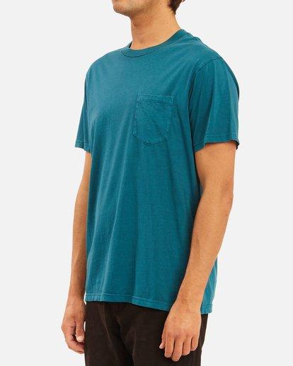 1 Essential Pocket Wave Washed T-Shirt Blue ABYZT00656 Billabong