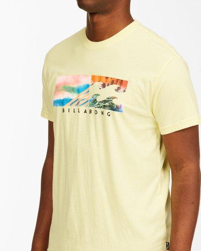 3 Inverse Photo Short Sleeve T-Shirt Yellow ABYZT00657 Billabong