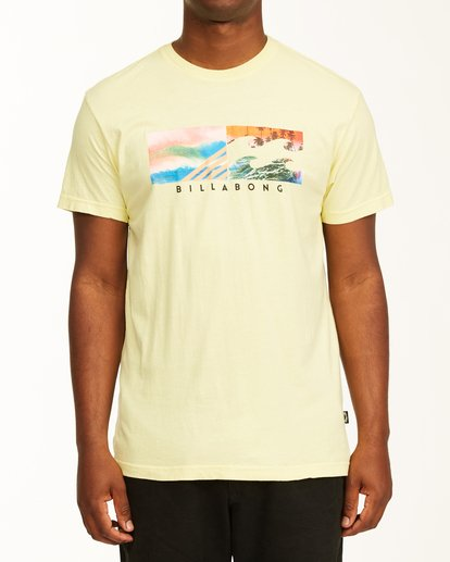0 Inverse Photo Short Sleeve T-Shirt Yellow ABYZT00657 Billabong