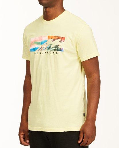 1 Inverse Photo Short Sleeve T-Shirt Yellow ABYZT00657 Billabong