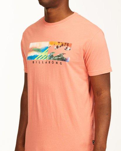 3 Inverse Photo Short Sleeve T-Shirt Orange ABYZT00657 Billabong