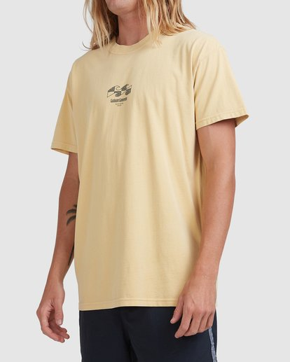 1 RAIN IN THE CLOUD TEE Yellow ABYZT00696 Billabong