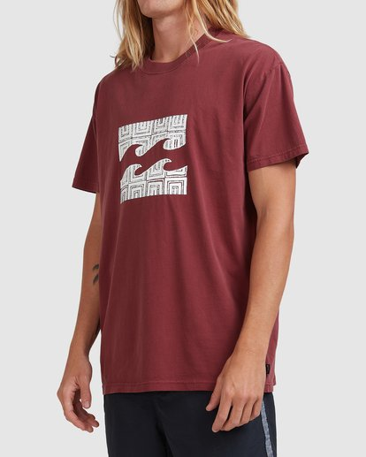 1 RAIN WAVE TEE Red ABYZT00697 Billabong