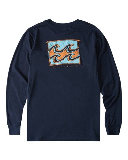 4 Draft Long Sleeve T-Shirt Blue ABYZT00718 Billabong