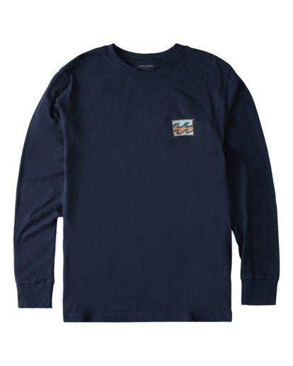 3 Draft Long Sleeve T-Shirt Blue ABYZT00718 Billabong