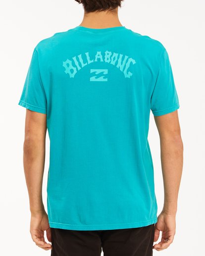 2 Arch Wave Washed Short Sleeve T-Shirt Blue ABYZT00757 Billabong