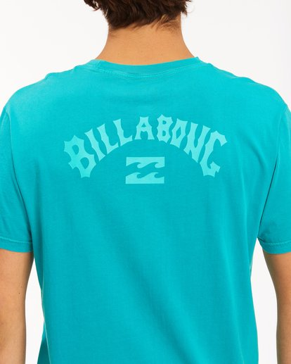 3 Arch Wave Washed Short Sleeve T-Shirt Blue ABYZT00757 Billabong
