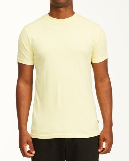 0 Essential Short Sleeve T-Shirt Yellow ABYZT00759 Billabong