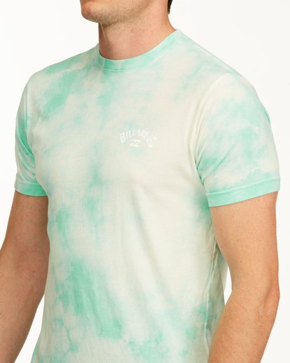 4 Tie Dye Arch Short Sleeve Tee Green ABYZT00760 Billabong