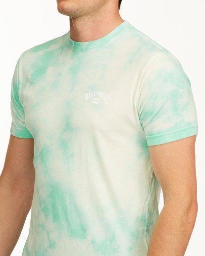 4 Tie Dye Arch Short Sleeve Tee Green ABYZT00760 Billabong