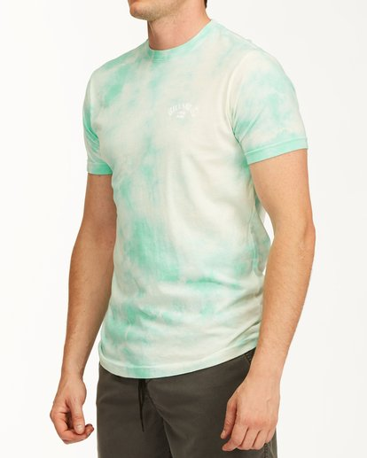 1 Tie Dye Arch Short Sleeve Tee Green ABYZT00760 Billabong