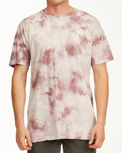 0 Tie Dye Arch Short Sleeve Tee Purple ABYZT00760 Billabong
