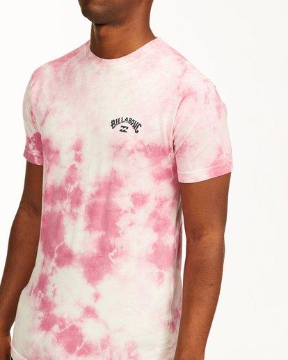 4 Tie Dye Arch Short Sleeve Tee Pink ABYZT00760 Billabong