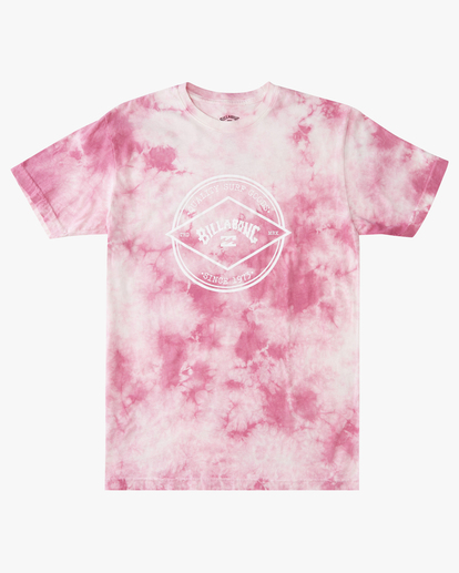 4 Tie Dye Rotor Arch Short Sleeve Tee Pink ABYZT00761 Billabong