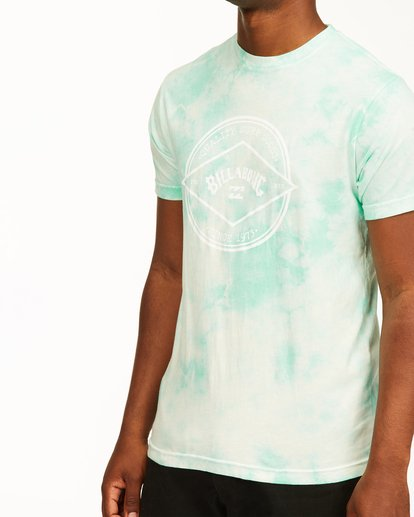 3 Tie Dye Rotor Arch Short Sleeve Tee Green ABYZT00761 Billabong