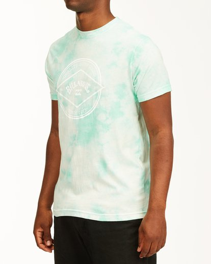 1 Tie Dye Rotor Arch Short Sleeve Tee Green ABYZT00761 Billabong