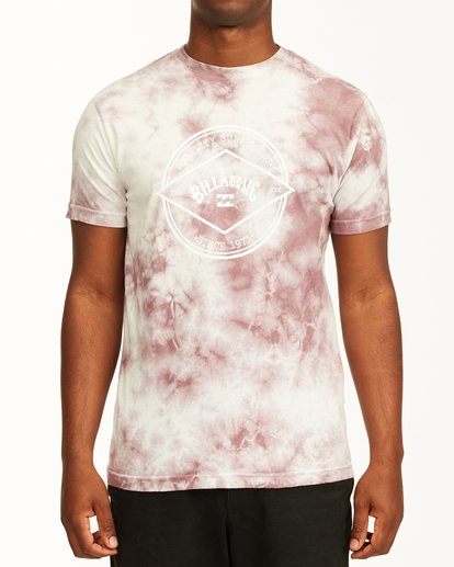 0 Tie Dye Rotor Arch Short Sleeve Tee Purple ABYZT00761 Billabong