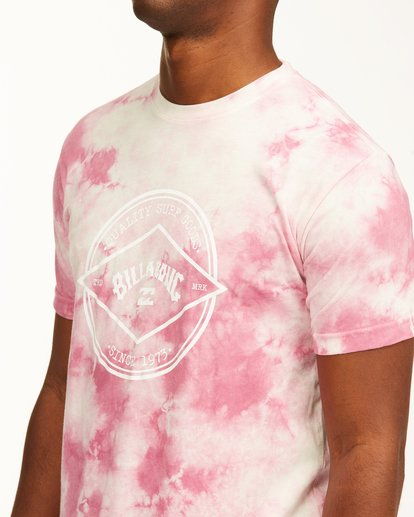 3 Tie Dye Rotor Arch Short Sleeve Tee Pink ABYZT00761 Billabong