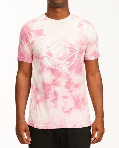 0 Tie Dye Rotor Arch Short Sleeve Tee Pink ABYZT00761 Billabong