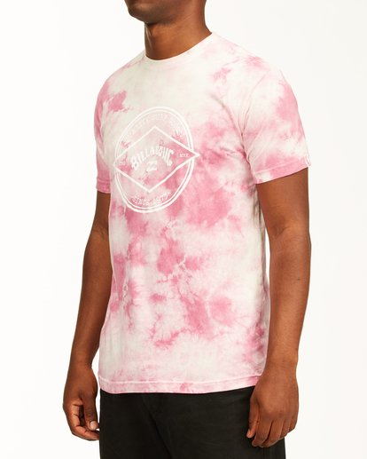 1 Tie Dye Rotor Arch Short Sleeve Tee Pink ABYZT00761 Billabong