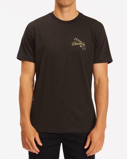 0 Handkie Hawaii Short Sleeve T-Shirt Black ABYZT00777 Billabong