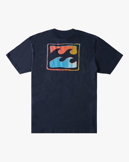 6 Crayon Wave Short Sleeve T-Shirt Blue ABYZT00795 Billabong