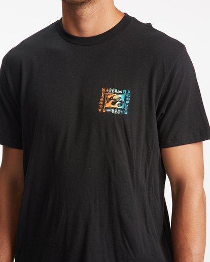 3 Crayon Wave Short Sleeve T-Shirt Black ABYZT00795 Billabong